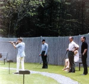 President Kennedy Skeet Shooting at Camp David