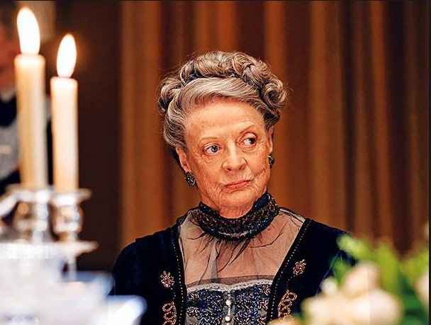 """To Lord Grantham for his informal shirt: """"Oh I'm so sorry, I thought you were a waiter…"""""""